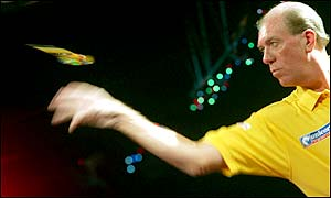 Former world champion John Lowe did not produce his best darts