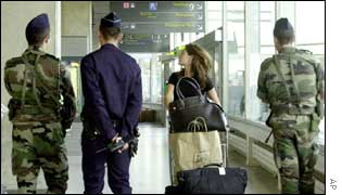 Police at Charles de Gaulle airport