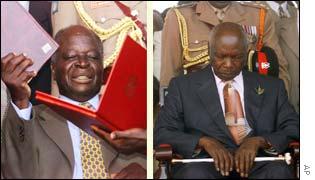 President Mwai Kibaki, former President Daniel arap Moi