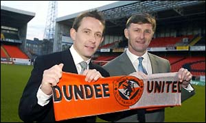 Billy Dodds and new manager Paul Hegarty