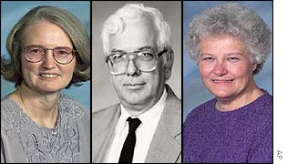 Three victims, from left: Martha Myers, William Koehn and Kathleen Gariety