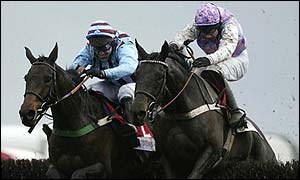 Best Mate battles past Marlborough in the King George VI Chase at Kempton