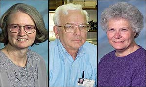 Slain missionaries, from left: Martha Myers, William Koehn and Kathleen Gariety