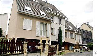 Home (left) of Abderazak Besseghir in Bondy