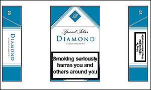 Fictional cigarette brand (c. ASH)