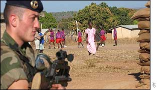 French soldier in Ivory Coast