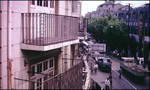 Properties along a Shanghai street