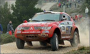 Paris-Dakar leader Stephane Peterhansel of France