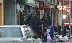 Armed officers in Hackney