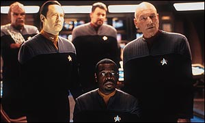 The crew from Star Trek: Nemesis