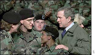 George W Bush at Fort Hood