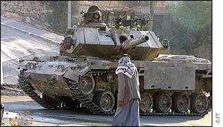 Israeli soldiers in tank