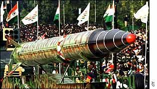 India's Agni missile