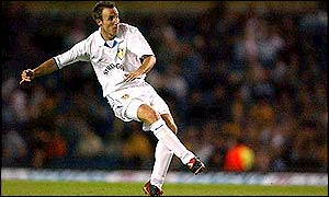 Leeds United's unsettled midfielder Lee Bowyer