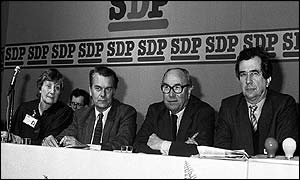A meeting of the Council for Social Democracy in Bath in 1986