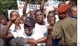 Pro-Gbagbo protesters