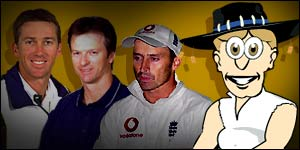 Ashes legends Glenn McGrath, Steve Waugh, Nasser Hussain and Davo