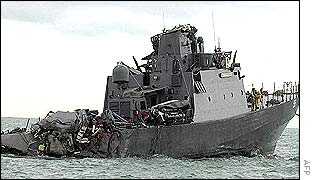 Damaged RSS Courageous