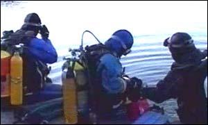 Divers at Dorothea Quarry