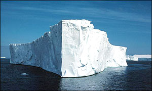 An Antarctic ice shelf