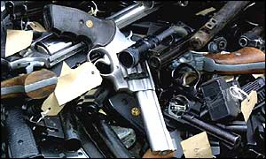 Guns recovered by the Metropolitan Police