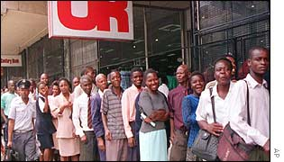 Food queue in Harare