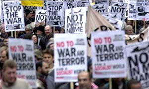Anti-war protest in London