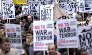 Anti-war protest in London