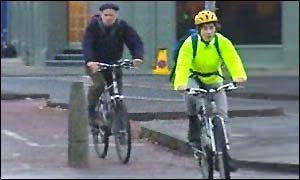 Cyclists in Edinburgh
