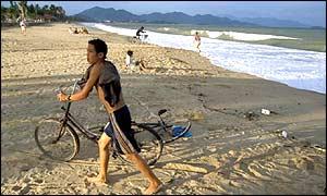 Beach scene in Nha Trang, Vietnam