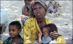 Ethiopian famine victims