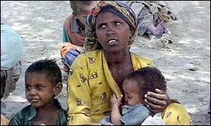 Ethiopian famine victims