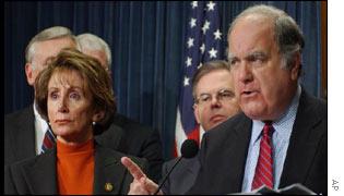 Incoming House Minority Leader Nancy Pelosi and John Spratt