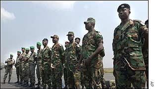 West African peacekeepers in Abidjan