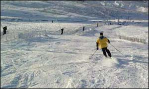 Skier at Yad Moss, near Alston