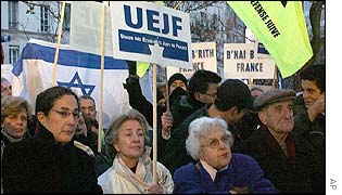 Protesters gather outside Paris university to protest against academic boycott