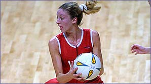 Olivia in action during the 2002 Commonwealth Games