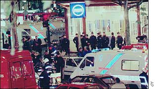 Aftermath of the Paris Metro bombing in 1995