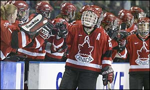 Hayley Wickenheiser won gold at the 2002 Winter Olympics with Canada