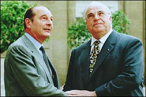 Jacques Chirac and Helmut Kohl