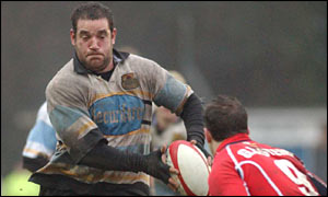 Adam Black in Ebbw's win over Llanelli