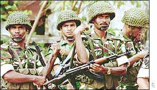 Bangladeshi soldiers in Dhaka