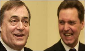 Deputy Prime Minister John Prescott and Health Secretary Alan Milburn