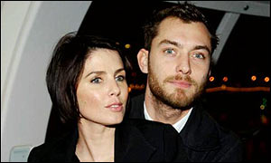 Jude Law and wife Sadie Frost