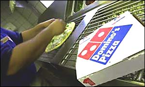 Domino's Pizza expects home delivery pizza sales to double by 2010