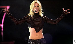 Britney Spears performing in Mexico City, July 2002