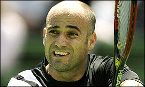Number two seed Andre Agassi