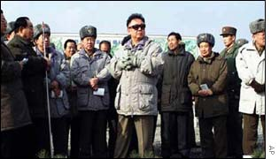 North Korean leader Kim Jong Il visits Kaechon, west of Pyongyang