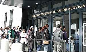 People line up in front of IND in San Francisco