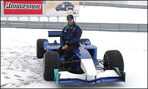 Sauber's test of their new car was cancelled because of snow